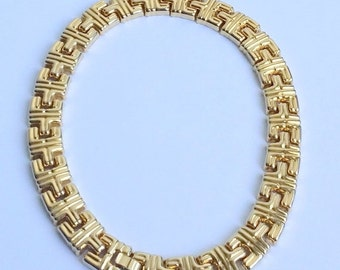 Clearance Amazing Vintage Gold Tone Massive Link Chain Necklace.