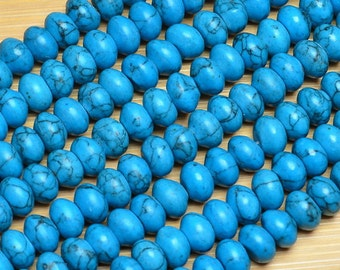 Dyed Howlite Rondelles Your Choice of Color
