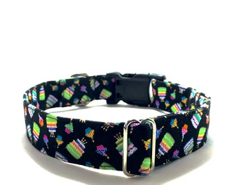 Birthday Dog Collar, Birthday Cat Collar, Happy Birthday Collar for Dog or Cat, Cupcakes on Collar, Gift for Dog Birthday