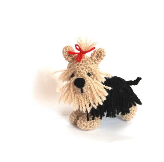 Amigurumi Yorkie : Yorkshire Terrier DOG Crochet Yorkie Puppy Amigurumi Dog