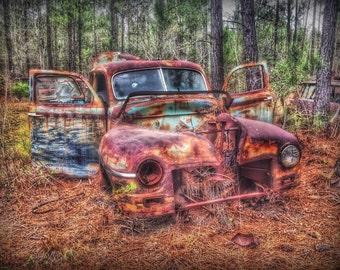 1947 Mercury Sedan - old car, antique car, junk yard, junk car, automobile, art, classic car,