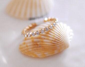 18K Solid Gold Eternity Ring 6JDr14171