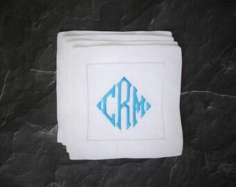 Monogram Cocktail Napkins, Personalized Cocktail Napkins, Custom Cocktail Napkin, Gifts for Her, Anniversary Gift, Unique Gift, Wedding Gift