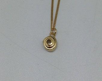 Pendant 'hundertwasser' pink gold plated silver