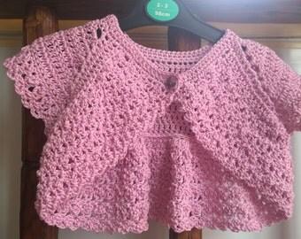 Cotton Baby Bolero. Toddler Shrug. 100% Cotton