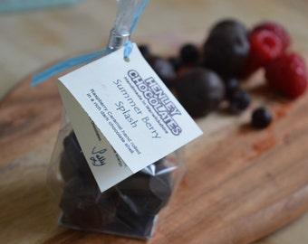 Summer Berry Splash - Raspberry & Blackcurrant Hand Made Chocolate Caramel Truffles