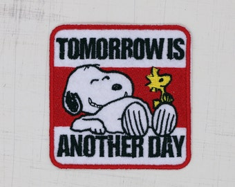 8 x 8cm, Snoopy - Tomorrow is another day (P-065)