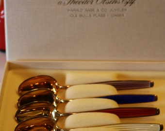 6 Never used J. Tostrup Norway Demitasse Spoons
