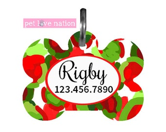 Personalized Pet Tag, Dog Tag, ID Tag, Abstract Pet Tag With Name And Phone Number