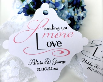 Smore wedding tags, favor tags, smore favor tags, wedding favor tags, sending smore love, smore love, thank you tags  - 30 count(tg18)