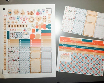 Sweetest Christmas Weekly Planner Stickers Set, for use with Erin Condren Life Planner, Happy Planner