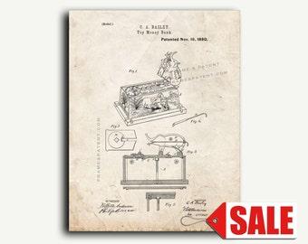 Patent Print - Toy Money-Bank Patent Wall Art Poster