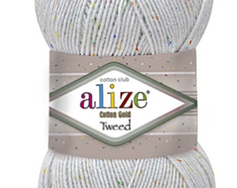 Lot of High quality Sport Cotton Yarn for crochet and handknitting Alize Cotton GOLD TWEED - Turkish Yanr with Cotton, Acrylic and Polyester