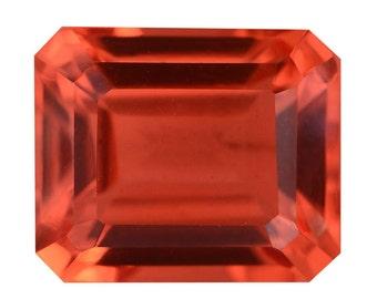 Sunfire Orange Quartz Triplet Loose Gemstone Octagon Cut 1A Quality 12x10mm TGW 7.80 cts.