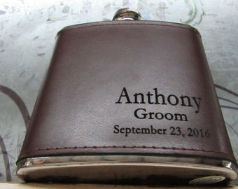 Set of 12 Groomsmen Gift Flask, Best Groomsmen Gift Ideas, Groomsman Flask, Best Man, Father of Bride, Father of the Groom, Usher, Groom