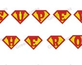 SUPER HERO Embroidery FONTS A - Z   Alphabets Machine Designs Patterns 2 Sizes