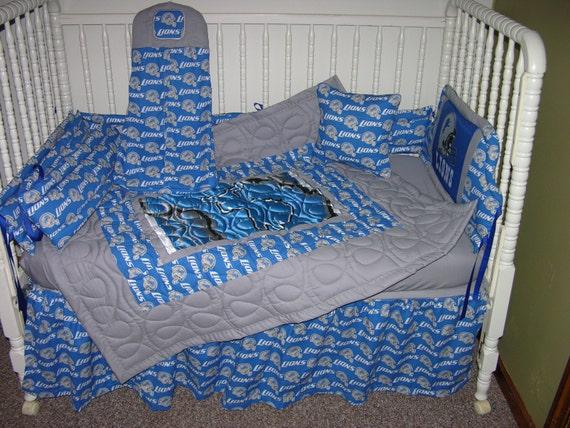 New Nursery Crib Bedding M W Detroit Lions By