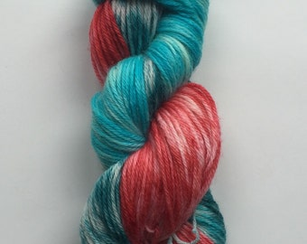 Hand Dyed Yarn | Hand Painted Yarn | 100% superwash merino wool | Hand Painted | worsted weight | 100 gr | Razzles