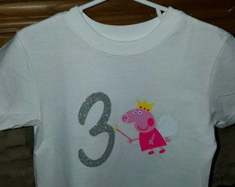 Pepa pig birthday shirt