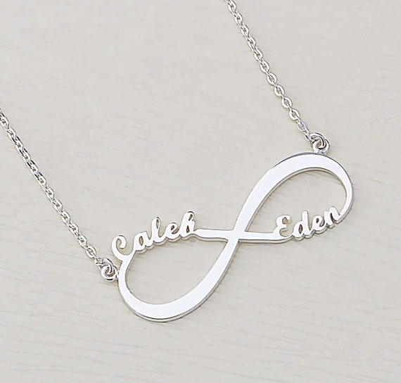infinity name necklace. like this item? infinity name necklace e