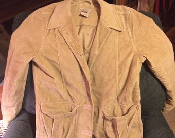LL Bean Tan Corduroy Jacket