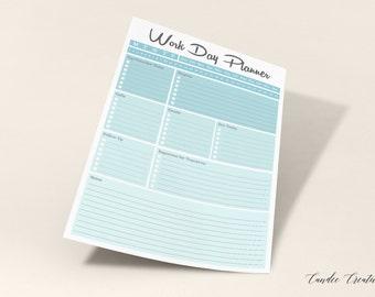 Work Day Planner PRINTABLE
