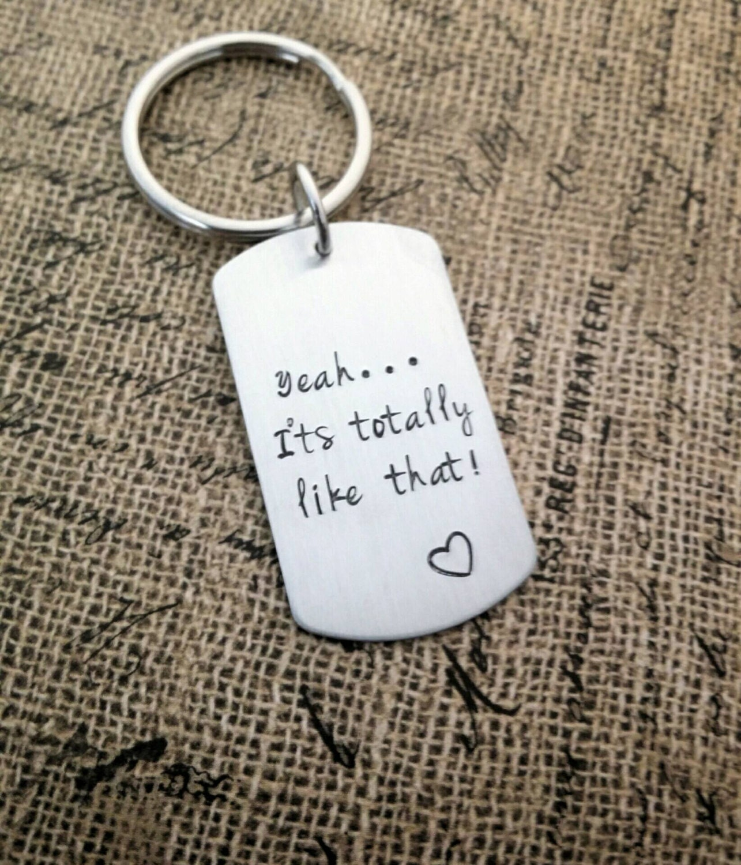 Personalized Key Chain Friend Gift Boyfriend Its Like That Birthday
