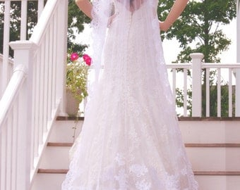Cathedral Length Wedding Veils, One Tiers Cathedral Veils, Wedding Veil, Veils, Wedding Accessories, Custom Bridal Veils, READY TO SHIP