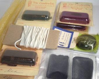 Wax Dye - Candle Making Kit - Craft Supply LOT - Dye Blocks - Paraffin - Vintage Supplies - Candle Dye Wax Blocks - Taper Candling Supplies