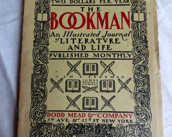 The Bookman - 1900 Illustrated Journal of Literature and Life - Antique Monthly Publication