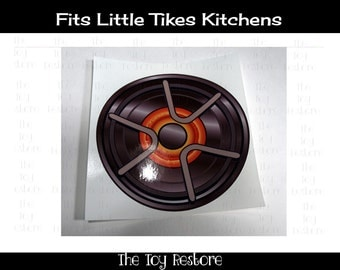 New Replacement Decals Stickers for Vtg Little Tikes Tykes Kitchen Element Stove top Burner Eye