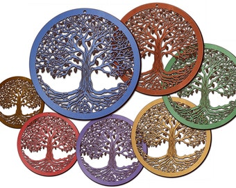 Tree of Life Wooden Laser-Engraved/Cut Wall Art Decor