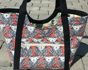 Poolside Tote - Extra Large Beach Bag in Lions
