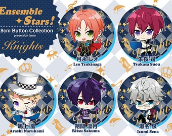 Ensemble Stars! knights 5.8cm Can batch Button pin collection あんさんぶるスターズ!   缶バッチ