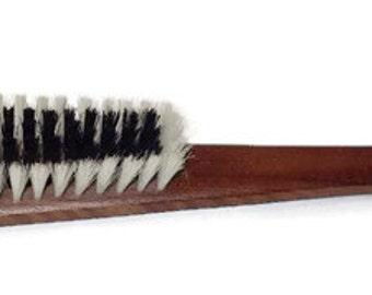 "Vintage Large 1960's Hanging Wooden Lint Clothing Brush & Shoehorn Shoe Horn Made In Japan 16"" Long"