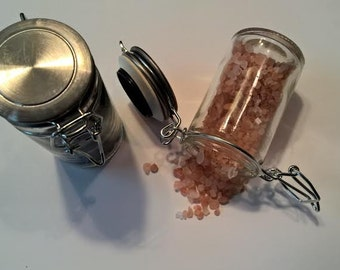 Glass Jar with Locking Lid- Set of 2