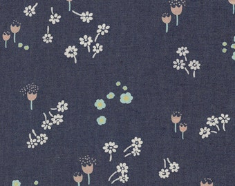 End of Bolt - 30 inch piece of Printed Denim Cotton - Ditsy Abrasion by Art Gallery Fabrics 6115