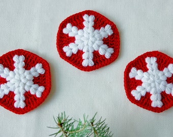 Crochet Pattern: Crochet Coaster Pattern, Crochet Christmas Gift, Crochet Gift Idea, Crochet Mandala, Crochet Tutorial, PDF