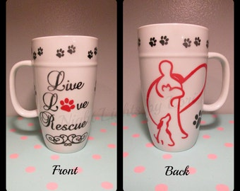 Live Love Rescue Latte Mug - Double Sided