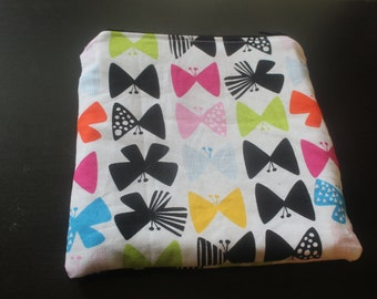Mluticolored butterfly reusable snack bag/eco friendly/washable/water resistant