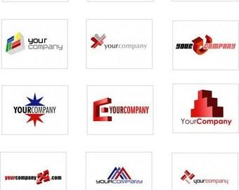 Custom Pre-Built LOGO DESIGN, 12 business web logo's
