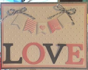 Homemade card- love card