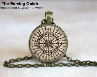 COMPASS ROSE Pendant • Vintage Compass • Compass Art • Explorer Gift • Traveler • Gift Under 20 • Made in Australia (P1160)
