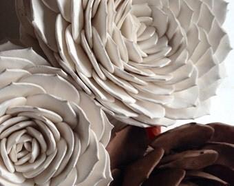 ceramic clay succulent wall piece