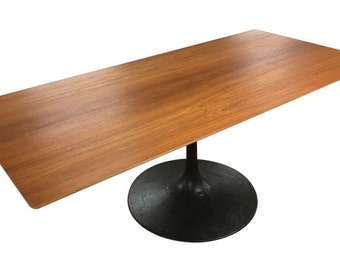 Bespoke Modern Teak Pedestal Table
