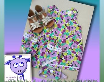Baby Pinafore 3 piece set - 18-24m