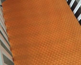 Minky Crib Sheet - Orange