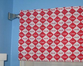 Coca cola curtain etsy - Bathroom coca cola shower curtain ...