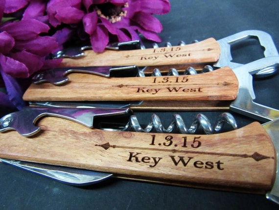 Giving Knives As A Wedding Gift : Gift Groomsmen Knife Wedding Party Favor Wedding Gift Corkscrew Knife ...