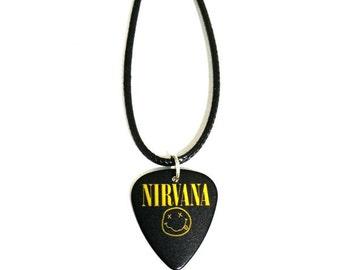 Nirvana Guitar Pick Necklace